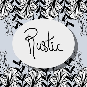 Rustic decoration with branches design background