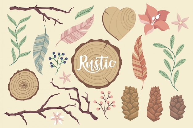 Rustic elements collection