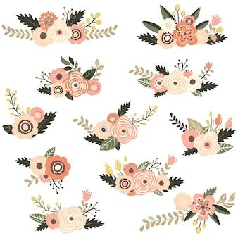 소박한 꽃 모음