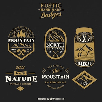 Rustic handmade badges
