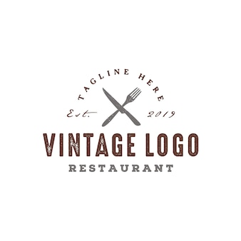 Rustic vintage ресторан дизайн логотипа