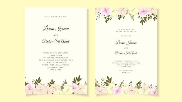 Приглашение на свадьбу в деревенском стиле с цветочным рисунком, спасибо, современная открытка rsvp.