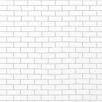 Rustic white brick background vector