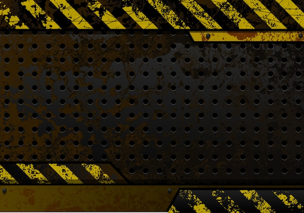 Rusty perforated iron plate grunge background