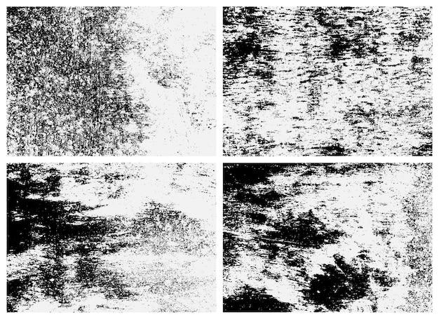 녹슨 표면 텍스처 세트입니다. 흑인과 백인 텍스처입니다. 녹슨 금속의 오버레이 질감.