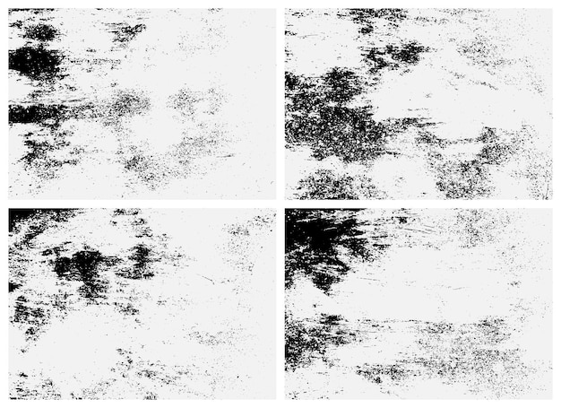 Rusty surface texture set. black and white texture. overlay texture of rusted metal.
