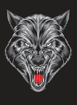 Ruthless wolf vector