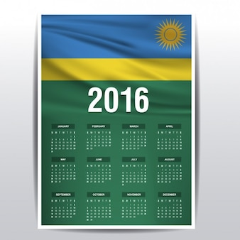 Ruanda calendario del 2016