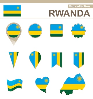 르완다 국기 컬렉션, 12개 버전