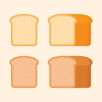 Ржано-пшеничный тостовый хлеб в плоском стиле.