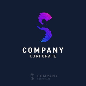 S company logo design with visiting card vector