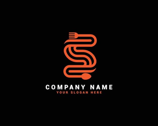 Логотип s food letter, логотип s-образное письмо, набор логотипов food letter, пищевой алфавит
