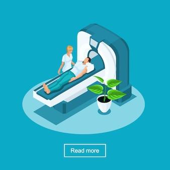 S здравоохранение и инновационные технологии, больница, медицинский персонал, пациентка, проходящая компьютерную томографию - компьютерная томография в больнице
