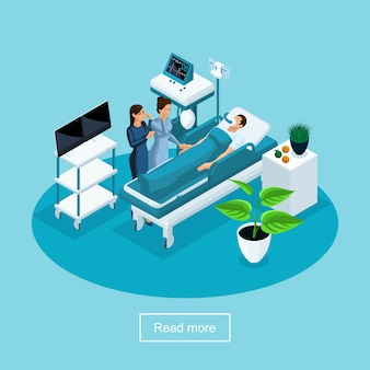 S health care and innovative technologies, hospital, postoperative rehabilitation, resuscitation,  concept