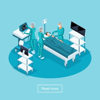 S healthcare and innovative technologies, hospital, surgery, surgeon operates patient, medical personnel, nurse and doctors