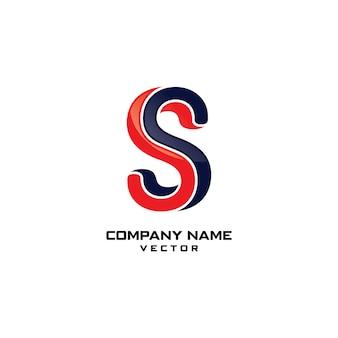 S Letter Company Logo Design Vector
