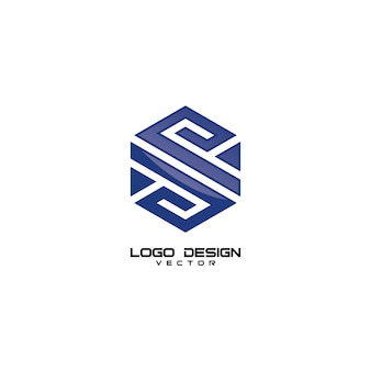 S letter geometry logo design