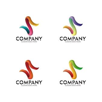 S文字ロゴアイコンデザイン要素、頭文字sモダンロゴと矢印スタイルのタッチ。文字ロゴs3d。ベクトルテンプレートのロゴ