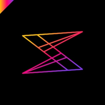 S письмо логотип значок векторный дизайн. идея бизнес-логотипа
