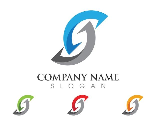 S letter logo template design vector