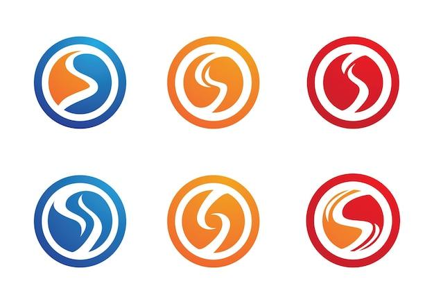 S 문자 로고, 볼륨 아이콘 디자인 서식 파일 요소