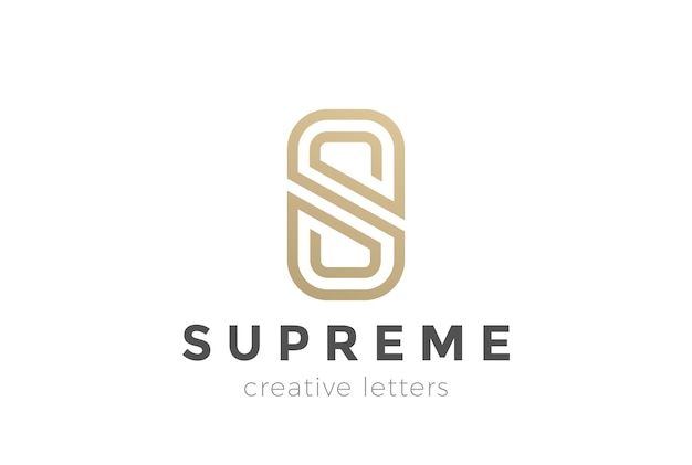 S letter luxury abstract logo
