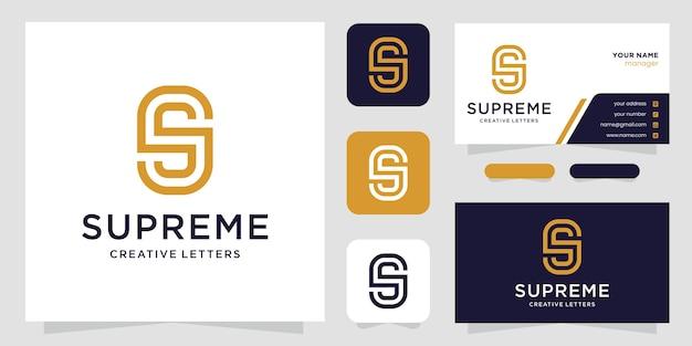 S письмо роскошный абстрактный логотип