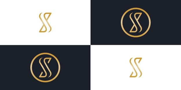 S文字最小限のシンプルなロゴベクトルアイコンテンプレート