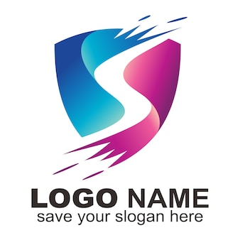 S letter protective logo
