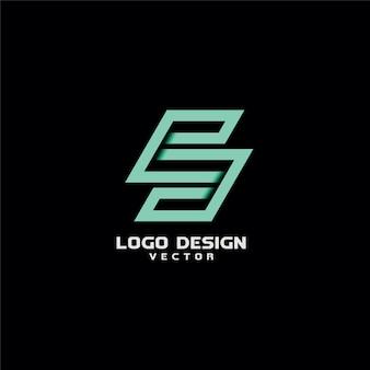 Письмо s line art типография дизайн логотипа