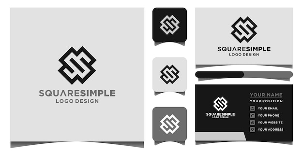 S logo and business card template