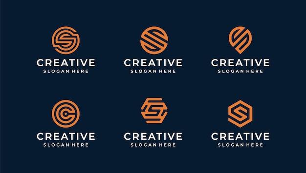S monoline логотип иллюстрации