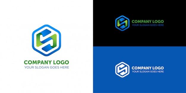 Буква s логотип компании nano tech