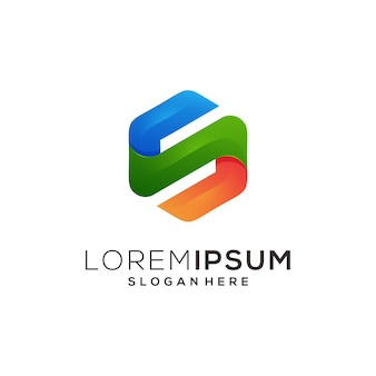 Шестигранная иконка логотип s syembol