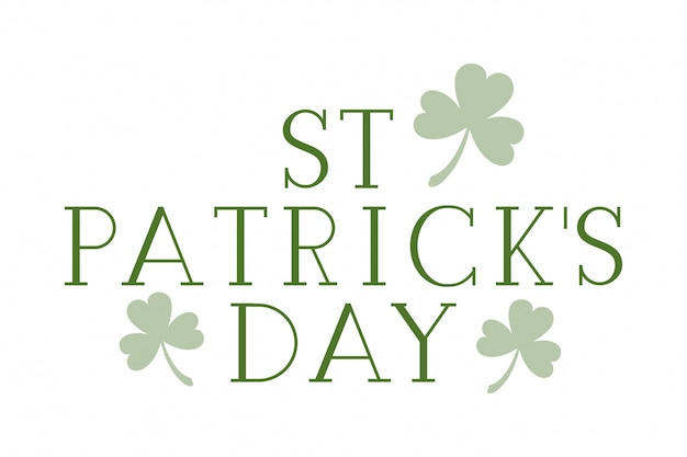 S.t. patrick`s day label isolated icon