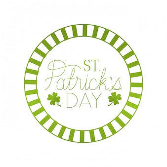 S.t. patrick`s day label with clover isolated icon
