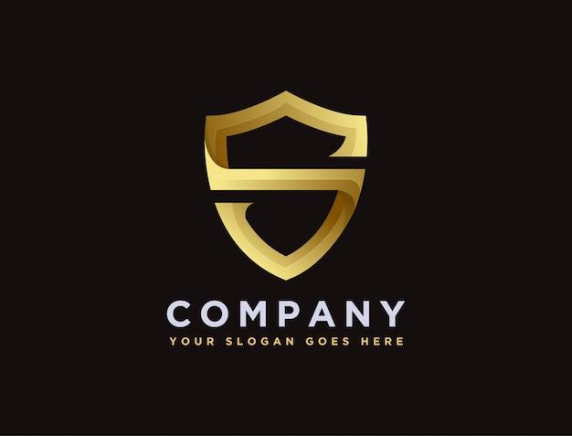 Буква s для шаблона логотипа щит
