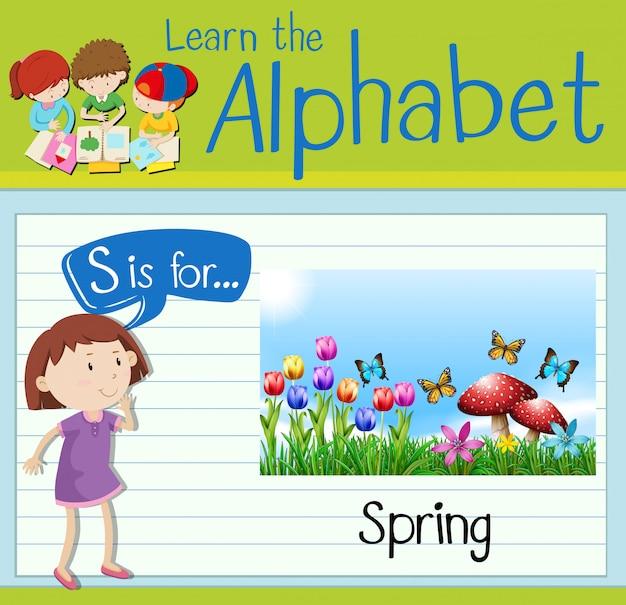 フラッシュカード文字sは春用です