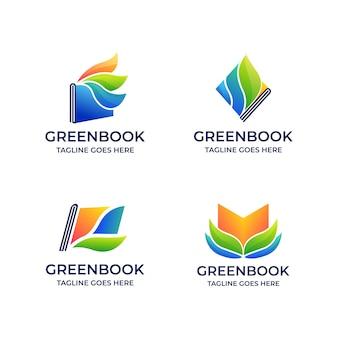 Книга зеленый образовательный шаблон s