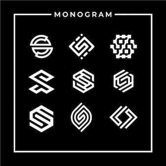 心に強く訴える手紙sモノグラムロゴデザイン
