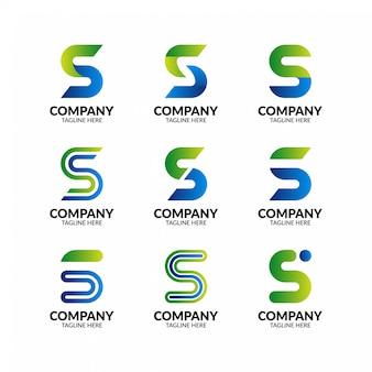 Буква s логотип коллекция