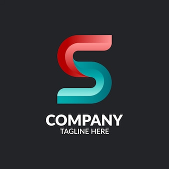 Минималистский буква s шаблон логотипа