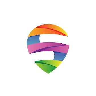 Sの文字ロゴベクトル