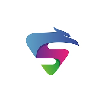 Буква s орел логотип вектор