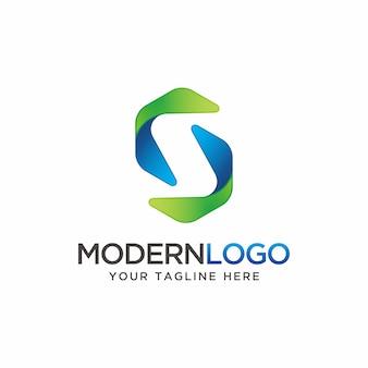 Логотип современной буквы s