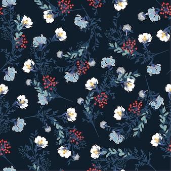 Цветок цветочный узор мотив s узор бесшовный вектор