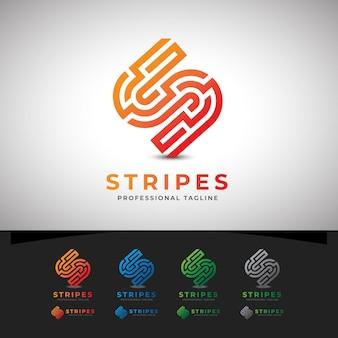 ストライプ抽象s文字のロゴ