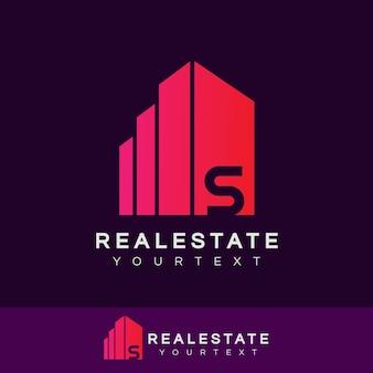 Недвижимость начальная буква s логотип дизайн