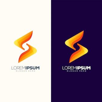 S文字ロゴデザインベクトル図を使用する準備ができて