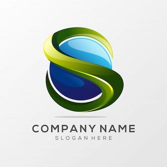 Буква s логотип премиум вектор